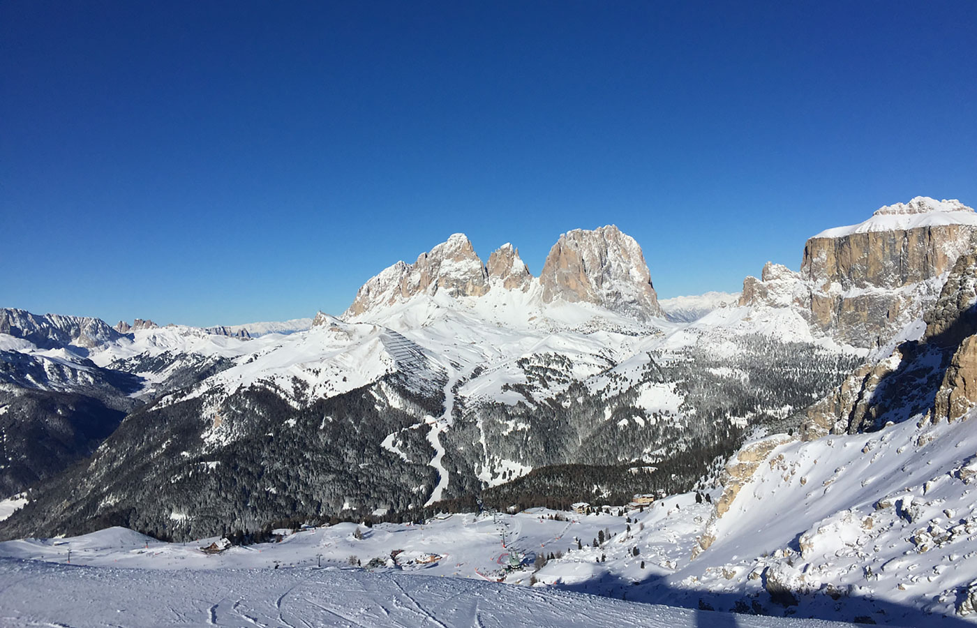 Snowy Dolomites in winter